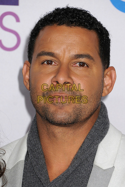 Jon Huertas.People's Choice Awards 2013 - Arrivals held at Nokia Theatre L.A. Live, Los Angeles, California, USA..January 9th, 2013.headshot portrait grey gray white stubble facial hair  .CAP/ADM/BP.©Byron Purvis/AdMedia/Capital Pictures.