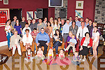 CHRISTENING: Proud parents Jason Kerins and Natlie Manusell, Tralee (seated centre) of little Kyle who was Christening by Fr Gerard Finucane at St John's Church, Tralee and celebrating afterwards with family and friends at the O'Donnell's bar and restaurat, Tralee on Saturday.