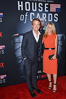 "LOS ANGELES, CA. October 22, 2018: Greg Kinnear & Helen Labdon at the season 6 premiere for ""House of Cards"" at the Directors Guild Theatre.<br /> Picture: Paul Smith/Featureflash"