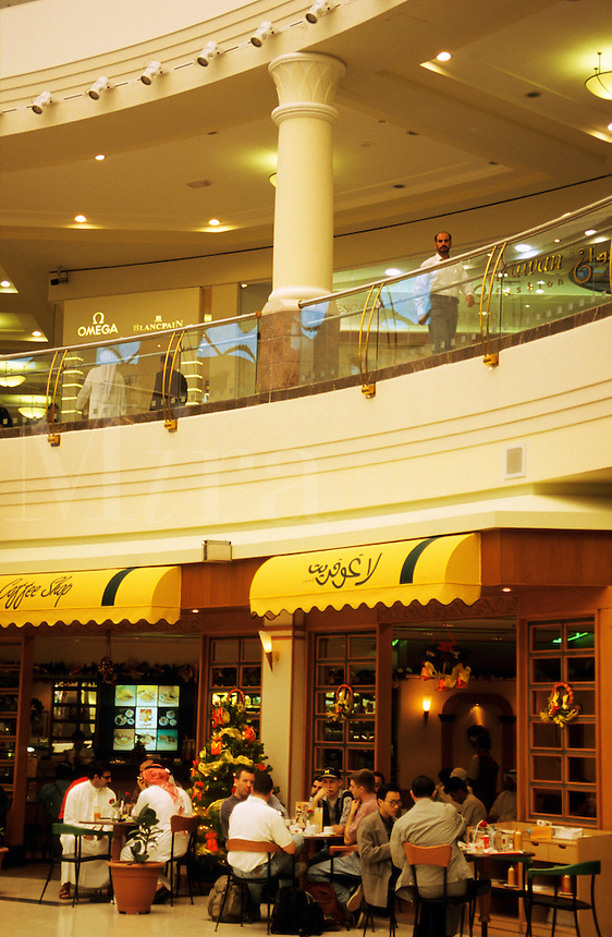 Dubai, United Arab Emirates. Cafe? in shopping centre/center.
