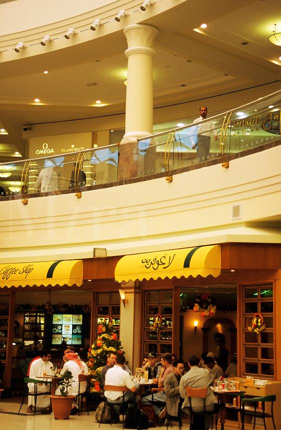 Dubai, United Arab Emirates. Cafe? in shopping centre/center.