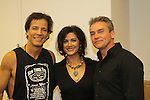 Bradley Cole, Saundra Santiago and Kurt McKinney at the 9th Annual Rock Show for Charity to benefit the American Red Cross of Greater New York on October 9, 2010 at the American Red Cross Headquarters, New York City, New York. (Photos by Sue Coflin/Max Photos)