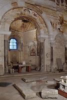 Europe/France/Poitou-Charentes/86/Vienne/Poitiers: Baptistère Saint-Jean ,  Piscine octogonale centrale utilisée pour les baptèmes par immersion et peintures murales