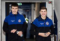 Bolton Wanderers' George Thomason (left) and Adam Senior pictured before the match <br /> <br /> Photographer Andrew Kearns/CameraSport<br /> <br /> The EFL Sky Bet League One - Rochdale v Bolton Wanderers - Saturday 11th January 2020 - Spotland Stadium - Rochdale<br /> <br /> World Copyright © 2020 CameraSport. All rights reserved. 43 Linden Ave. Countesthorpe. Leicester. England. LE8 5PG - Tel: +44 (0) 116 277 4147 - admin@camerasport.com - www.camerasport.com