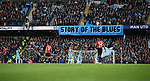 Manchester City fans banner during the English Premier League match at The Etihad Stadium, Manchester. Picture date: April 27th, 2016. Photo credit should read: Lynne Cameron/Sportimage
