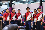 (L-R)  Shota Koki,  Daisuke Yoshida, Takuya Miyazawa, Tomoyuki Sasaki, Ä Shusaku Asato, Shogo Wada (JPN), <br /> AUGUST 23, 2018 - Bowling : <br /> Men's Trios Block 2 <br /> at Jakabaring Sport Center Bowling Center <br /> during the 2018 Jakarta Palembang Asian Games <br /> in Palembang, Indonesia. <br /> (Photo by Yohei Osada/AFLO SPORT)