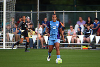 Kansas City, MO - Saturday May 28, 2016: Orlando Pride defender Toni Pressley (3). FC Kansas City defeated Orlando Pride 2-0 during a regular season National Women's Soccer League (NWSL) match at Swope Soccer Village.