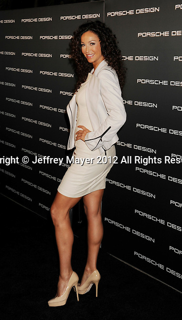 LOS ANGELES, CA - SEPTEMBER 04: Sofia Milos arrives at the Porsche Design 40th Anniversary Event at a private residence on September 4, 2012 in Los Angeles, California.