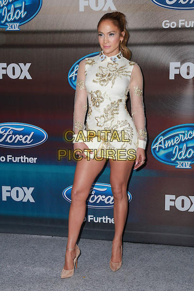 LOS ANGELES, CA - MARCH 11: Jennifer Lopez at Fox's 'American Idol XIV' Finalist Party at The District Restaurant on March 11, 2015 in Los Angeles, California. <br /> CAP/MPI/DC/DE<br /> &copy;DE/DC/MPI/Capital Pictures