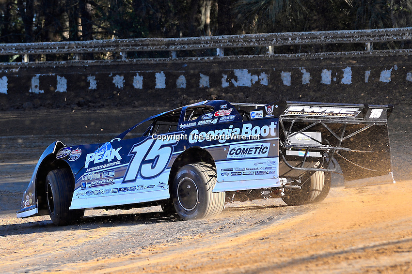 Feb 16, 2014; 4:38:43 PM; Ocala, FL., USA; The Third Annual Bubba Army Winter Nationals World Of Outlaws Super Late Models paying $12,000 to win at Bubba RaceWay Park.  Mandatory Credit: (thesportswire.net)