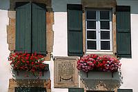 Europe/France/Aquitaine/64/Pyrénées-Atlantiques/Sare: Détail maison basque