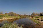 Israel, the northern Negev. Besor stream by Besor route scenic road