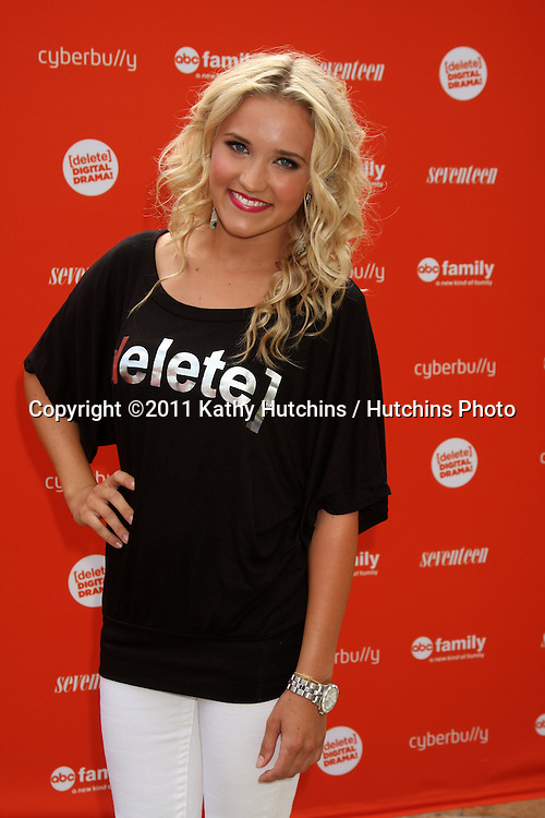 LOS ANGELES - JUL 14:  Emily Osment arriving at the Delete Digital Drama Rally at Americana on July 14, 2011 in Glendale, CA