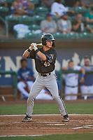 Nick Grande (49) of the Missoula Osprey at bat against the Ogden Raptors at Lindquist Field on August 12, 2019 in Ogden, Utah. The Raptors defeated the Osprey 4-3. (Stephen Smith/Four Seam Images)