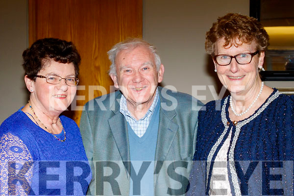 L-R Marian Hussey with Richard&Ann Casey having fun at the Causeway Comhaltas social in the Ballyroe Heights hotel, Tralee last Saturday night.