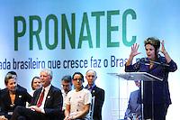 PORTO ALEGRE, RS, 11.04.2014 - DILMA PARTICIPA DE FORMATURA DO PRONATEC - Presidente da República, Dilma Rousseff, participa de formatura dos estudantes do Instituto Federal de Educação, Ciência e Tecnologia do Rio Grande do Sul (IFRS), do Instituto Federal Sul-Riograndense (IFSul), Serviço Nacional de Apredizagem (Senac) e Serviço Nacional de Aprendizagem Industrial (Senai), que fazem parte do Programa Nacional de Acesso ao Ensino Técnico e ao Emprego (Pronatec), no Salão de Atos da Puc, nesta sexta-feira, 11. (Foto: Pedro H. Tesch / Brazil Photo Press).