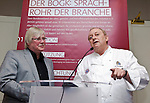 "BRUSSELS - BELGIUM - 24 March 2015 -- BOGK - German Association of the Fruit, Vegetable and Potato Processing Industry - Award ceremony ""Ambassador of Good Taste"". -- Konnrad LINKENHEIL, President of BOGK with award receiver Alfons SCHUHBECK, Restaurateur, one of Germany's top chefs. -- Photo: Juha ROININEN / EUP-IMAGES"