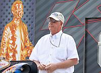 Apr. 6, 2013; Las Vegas, NV, USA: NHRA official Graham Light during the K&N Horsepower Challenge during qualifying for the Summitracing.com Nationals at the Strip at Las Vegas Motor Speedway. Mandatory Credit: Mark J. Rebilas-