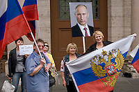 Ucraina, manifestazione Pro-Russia a Roma