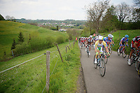 Simon Gerrans (AUS/Orica-GreenEDGE) up the &lsquo;steepest climb&rsquo; in Holland: Keutenberg (max 22%)<br /> <br /> Amstel Gold Race 2014