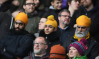 1st January 2020; Vicarage Road, Watford, Hertfordshire, England; English Premier League Football, Watford versus Wolverhampton Wanderers; Wolverhampton Wanderers fans before kick off - Strictly Editorial Use Only. No use with unauthorized audio, video, data, fixture lists, club/league logos or 'live' services. Online in-match use limited to 120 images, no video emulation. No use in betting, games or single club/league/player publications