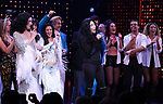 Stephanie J. Block, Teal Wicks, Michael Berresse and Cher with cast during the Broadway Opening Night Curtain Call of 'The Cher Show'  at Neil Simon Theatre on December 3, 2018 in New York City.