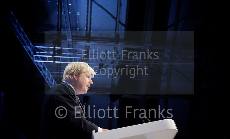 Conservative Party Annual Conference, Manchester, Great Britain <br /> 2nd - 5th October 2011 <br /> <br /> Boris Johnson <br /> Mayor of London <br /> <br /> Photograph by Elliott Franks