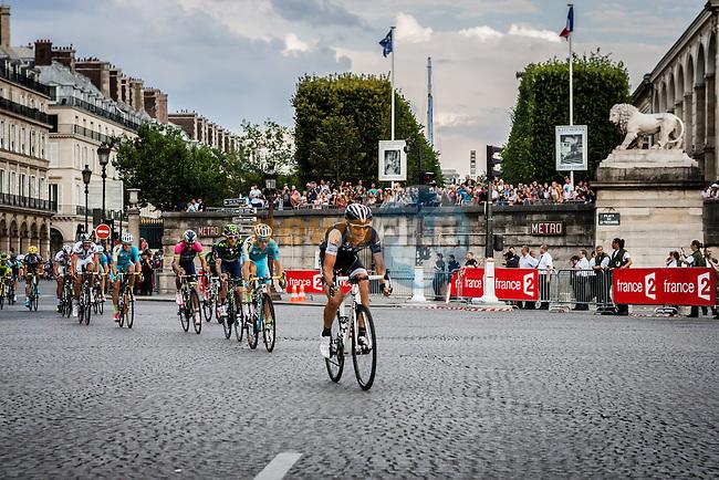 Last 500m with Alejandro Valverde (ESP) of Movistar Team, Tour de France, Stage 21: Évry > Paris Champs-Élysées, UCI WorldTour, 2.UWT, Paris Champs-Élysées, France, 27th July 2014, Photo by Pim Nijland