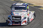 Czech driver Adam Lacko belonging Czech team Buggyra International Racing System during the third race R3 of the XXX Spain GP Camion of the FIA European Truck Racing Championship 2016 in Madrid. October 02, 2016. (ALTERPHOTOS/Rodrigo Jimenez)