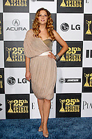 US actress Rachelle Lefevre arrives at the 25th Independent Spirit Awards held at the Nokia Theater in Los Angeles on March 5, 2010. The Independent Spirit Awards is a celebration honoring films made by filmmakers who embody independence and originality..Photo by Nina Prommer/Milestone Photo
