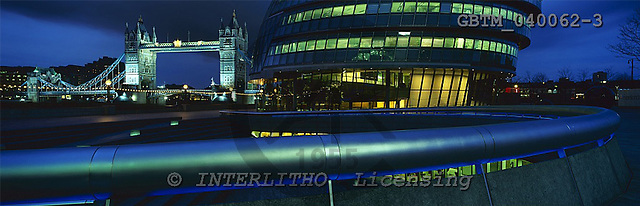Tom Mackie, LANDSCAPES, panoramic, photos, London City Hall & Tower Bridge, London, England, GBTM040062-3,#L#
