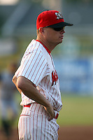 June 27th, 2007:  Mike Shildt of the Batavia Muckdogs, Short-Season Class-A affiliate of the St. Louis Cardinals at Dwyer Stadium in Batavia, NY.  Photo by:  Mike Janes/Four Seam Images