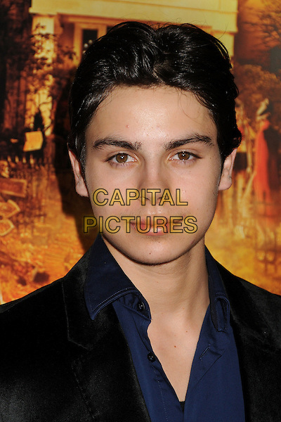 "Jake T. Austin.""Fun Size"" Los Angeles Premiere held at Paramount Studios, Los Angeles, California, USA..October 25th, 2012.headshot portrait black blue shirt.CAP/ADM/BP.©Byron Purvis/AdMedia/Capital Pictures."