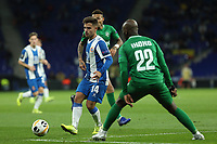 7th November 2019; RCDE Stadium, Barcelona, Catalonia, Spain; UEFA Europa League Football, Real Club Deportiu Espanyol de Barcelona versus PFC Ludogorets Razgrad; Melendo  passes across Ikokoof Ludogorets - Editorial Use