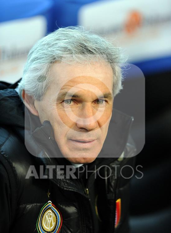 """Franco Baresi vice allenatore dell'Inter.Milano 07/3/2010 Stadio """"Giuseppe Meazza"""".Inter Genoa.Campionato Italiano Serie A 2009/2010.Foto Nicolo' Zangirolami Insidefoto"""