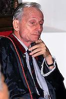 Frei Henri Des Roziers, coordenador da CPT durante o julgamento dos acusados pelos assassinatos de vários membros da família Canuto.<br /> Belém Pará Brasil<br /> 22/05/2003<br /> Foto Paulo Santos/Interfoto