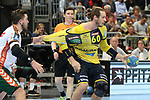 Trikottest beim Rhein Neckar Loewe Kim Ekdahl du Rietz (Nr.60)  beim Spiel in der Handball Bundesliga, Rhein Neckar Loewen - HSG Wetzlar.<br /> <br /> Foto &copy; PIX-Sportfotos *** Foto ist honorarpflichtig! *** Auf Anfrage in hoeherer Qualitaet/Aufloesung. Belegexemplar erbeten. Veroeffentlichung ausschliesslich fuer journalistisch-publizistische Zwecke. For editorial use only.