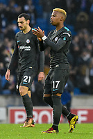 Charly Musonda of Chelsea (17) claps the fans after the Premier League match between Brighton and Hove Albion and Chelsea at the American Express Community Stadium, Brighton and Hove, England on 20 January 2018. Photo by Edward Thomas / PRiME Media Images.