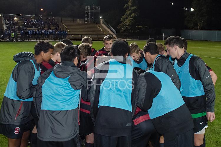 November 13, 2013: Team before the Stanford vs Cal men's soccer match in Stanford, California.  Stanford won 2-1 in overtime.