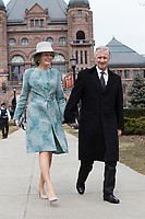 King Philippe & Queen Mathilde of Belgium meet with E. Dowdeswell, Lieutenant Governor of Ontario