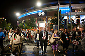 The DNC crowd exits Time Warner Arena on Tuesday September 4th 2012.