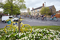 Picture by Shaun Flannery/SWpix.com - 04/05/2018 - Cycling - 2018 Tour de Yorkshire - Stage 2: Barnsley to Ilkley - Yorkshire, England <br /> <br /> The women's peloton makes it's way through the village of Barnburgh in South Yorkshire.