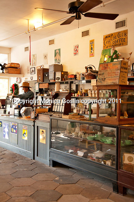 The general store at Heritage Village in Florida, a living museum park made up of 21 acres with historical buildings from around Florida that were built in the 19th century