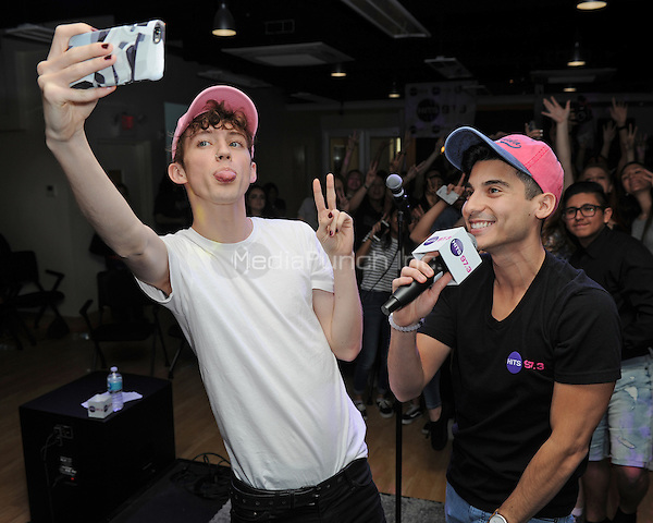 HOLLYWOOD, FL -  MARCH 13: Troye Sivan performs at  radio station 97.3 The Hits on March 13, 2016 in Hollywood, Florida. Credit: mpi04/MediaPunch
