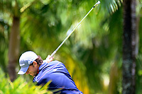 Laurie Canter (ENG) in action during the final round of the Afrasia Bank Mauritius Open played at Heritage Golf Club, Domaine Bel Ombre, Mauritius. 03/12/2017.<br /> Picture: Golffile | Phil Inglis<br /> <br /> <br /> All photo usage must carry mandatory copyright credit (&copy; Golffile | Phil Inglis)