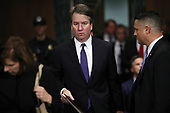WASHINGTON, DC - SEPTEMBER 27:  Judge Brett Kavanaugh returns from a break in his Supreme Court confirmation hearing before the Senate Judiciary Committee in the Dirksen Senate Office Building on Capitol Hill September 27, 2018 in Washington, DC. Kavanaugh was called back to testify about claims by Christine Blasey Ford, who has accused him of sexually assaulting her during a party in 1982 when they were high school students in suburban Maryland.  (Photo by Win McNamee/Getty Images)