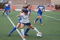 Boston Breakers defender Julie King (8) and Sky Blue FC forward Lisa De Vanna (11) battle for the ball.  In a National Women's Soccer League Elite (NWSL) match, Sky Blue FC defeated the Boston Breakers, 3-2, at Dilboy Stadium on June 16, 2013