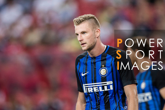 FC Internazionale Defender Milan Skriniar in action during the International Champions Cup match between FC Bayern and FC Internazionale at National Stadium on July 27, 2017 in Singapore. Photo by Marcio Rodrigo Machado / Power Sport Images