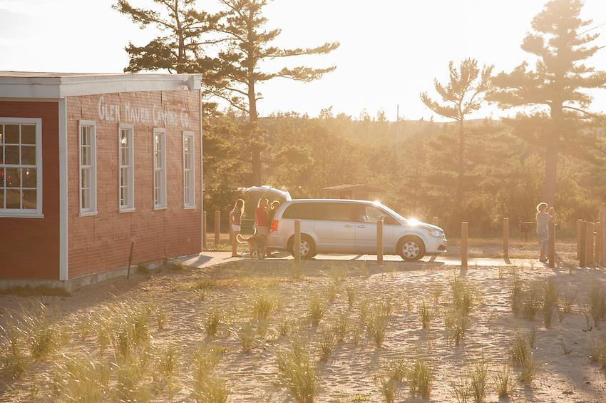Glen Haven beach of Sleeping Bear Dune National Lakeshore near Traverse City, Michigan.