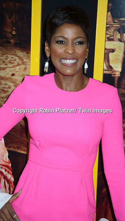 """Tamron Hall attends the New York Premiere of """" Belle"""" on April 28, 2014 at The Paris Theatre in New York City, New York, USA."""